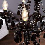 """Lustre de luxe """"ELEGANCE""""   Ø 54 cm, noir   lustre avec 5 branches, cristaux acryliques de la marque DESIGN DELIGHTS image 2 produit"""