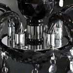 """Lustre de luxe """"ELEGANCE""""   Ø 54 cm, noir   lustre avec 5 branches, cristaux acryliques de la marque DESIGN DELIGHTS image 3 produit"""