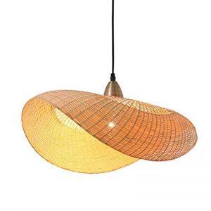Lustre Double Tête En Bambou Chambre Allée En Rotin Lampe 60cmX32cm pour salon salle à manger hôtel de la marque ZHA image 0 produit