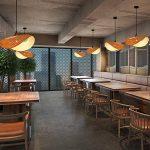 Lustre Double Tête En Bambou Chambre Allée En Rotin Lampe 60cmX32cm pour salon salle à manger hôtel de la marque ZHA image 4 produit