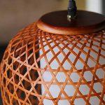 Lustre En Bambou Lanterne 270 mmX1070 mm pour salon salle à manger hôtel de la marque ZHA image 3 produit