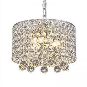 Lustre en cristal moderne, Plafonnier encastré à 3 lumières Diamètre de 9,8 pouces pour couloir, salle à manger, chambre à coucher, salon, cuisine de la marque AFSEMOS image 0 produit