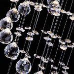 Lustre en cristal Plafonnier Luminaire - CCLIFE (2017 Moderne Design) Ø25cm Pour Couloir, Bar, Cuisine, Salle à Manger, 1 x GU10 douille de la marque CCLIFE image 2 produit