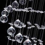 Lustre en cristal Plafonnier Luminaire - CCLIFE (2017 Moderne Design) Ø25cm Pour Couloir, Bar, Cuisine, Salle à Manger, 1 x GU10 douille de la marque CCLIFE image 3 produit