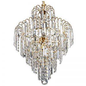 Lustre en cristal - SODIAL(R) Lustre en cristal de luxe de grande taille Moderne Plafonnier lampe suspendue luminaire de la marque SODIAL(R) image 0 produit
