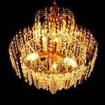 Lustre en cristal - SODIAL(R) Lustre en cristal de luxe de grande taille Moderne Plafonnier lampe suspendue luminaire de la marque SODIAL(R) image 3 produit