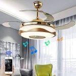 Lustre Fan moderne avec Bluetooth lecteur de musique à télécommande Stealth ventilateur de plafond lumière 42 pouces adapté à la salle à manger, salon, chambre à coucher de la marque kele dreamer image 1 produit