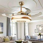 Lustre Fan moderne avec Bluetooth lecteur de musique à télécommande Stealth ventilateur de plafond lumière 42 pouces adapté à la salle à manger, salon, chambre à coucher de la marque kele dreamer image 4 produit