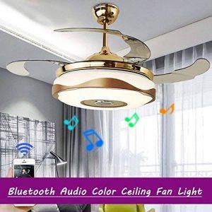 Lustre Fan moderne avec Bluetooth lecteur de musique à télécommande Stealth ventilateur de plafond lumière 42 pouces adapté à la salle à manger, salon, chambre à coucher de la marque kele dreamer image 0 produit