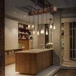 Lustre Industriel Bois Suspension Industrielle Luminaire Vintage Salon Cuisine Lampe Plafond pour E27 Lampe de la marque KJLARS image 1 produit