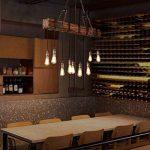 Lustre Industriel Bois Suspension Industrielle Luminaire Vintage Salon Cuisine Lampe Plafond pour E27 Lampe de la marque KJLARS image 3 produit