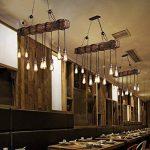 Lustre Industriel Bois Suspension Industrielle Luminaire Vintage Salon Cuisine Lampe Plafond pour E27 Lampe de la marque KJLARS image 4 produit