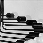 Lustre/loft rétro lustre personnalité simple salon créatif long fer spirale lustre (taille : B) de la marque Lihuideng image 4 produit