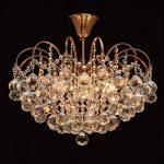 Lustre Magnifique de Design Baroque en Métal couleur Bronze décorée de Pampilles Boules en Cristal pour Salon Salle de Séjour Chambre 6x60W E14 de la marque MW-Light image 2 produit