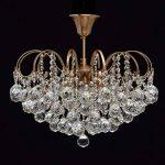 Lustre Magnifique de Design Baroque en Métal couleur Bronze décorée de Pampilles Boules en Cristal pour Salon Salle de Séjour Chambre 6x60W E14 de la marque MW-Light image 1 produit