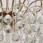 Lustre Magnifique de Design Baroque en Métal couleur Bronze décorée de Pampilles Boules en Cristal pour Salon Salle de Séjour Chambre 6x60W E14 de la marque MW-Light image 4 produit