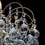 Lustre Magnifique de Design Baroque en Métal couleur Bronze décorée de Pampilles Boules en Cristal pour Salon Salle de Séjour Chambre 6x60W E14 de la marque MW-Light image 3 produit