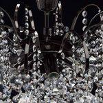 Lustre Magnifique de Design Baroque en Métal couleur Nickel Noir Brillant décoré de Pampilles Boules en Cristal pour Salon Salle de Séjour Chambre 6x60W E14 de la marque MW-Light image 4 produit