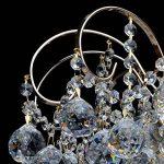 Lustre Magnifique de Design Baroque en Métal couleur Or décoré de Pampilles Boules en Cristal pour Salon Salle de Séjour Chambre 6x60W E14 de la marque MW-Light image 1 produit