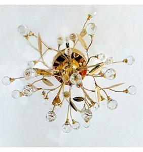 Lustre Plafonnier cristal doré - Gutenstein 6 lumières KOSILUM - IP20 - Classe énergétique : Compatible avec A, B, C, D, E - 220/230V 50/60Hz - 6 x max 20W - de la marque Kosilum image 0 produit