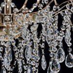 Lustre Plafonnier de Style Baroque en Métal couleur Or décoré de Pampilles en Cristal pour Salon Chambre Hall d'Entrée 6x60W E14 de la marque Demarkt image 3 produit
