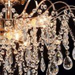 Lustre Plafonnier de Style Baroque en Métal couleur Or décoré de Pampilles en Cristal pour Salon Chambre Hall d'Entrée 6x60W E14 de la marque Demarkt image 4 produit