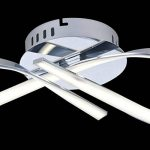 Lustre Plafonnier LED design ruban infini chrome - Acht KOSILUM - IP20 - Classe énergétique : A - 220/230V 50/60Hz - 15W - 1200 lm de la marque Kosilum image 4 produit