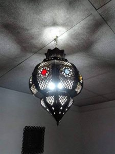 Lustre plafonnier marocain suspension Lanterne Lampe applique ethnique chic vintage arabe Afrique orientale maroc 0944 de la marque Etnico Arredo image 0 produit