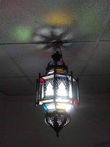 Lustre plafonnier marocain suspension Lanterne Lampe applique ethnique chic vintage arabe Afrique orientale maroc 1219 de la marque Etnico Arredo image 0 produit