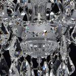 Lustre Suspension Baroque à 6 Lampes Bougies en Métal couleur Argent Brillant décoré de Pampilles en Cristal et Verre Gravé pour Salon Hall d'Entrée 6x60W E14 de la marque MW-Light image 4 produit
