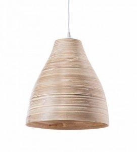 Lustre, Suspension Calcuta - bambou - bois naturel - ø30 x H33 cm - E27 60W de la marque LUSSIOL image 0 produit