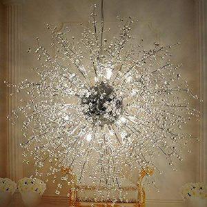 Lustres de boule de feu d'artifice d'étoile, plafonnier post-moderne d'acier inoxydable LED Lustre de fer de salon de fer créatif lampe pendante de salle à manger, lumière chaude de la marque DFMD image 0 produit