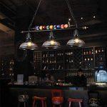 lustres loft rétro chandelier en verre personnalité créative trois restaurant art bar comptoir billard lustre industriel A+ de la marque lustre image 2 produit