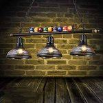 lustres loft rétro chandelier en verre personnalité créative trois restaurant art bar comptoir billard lustre industriel A+ de la marque lustre image 3 produit
