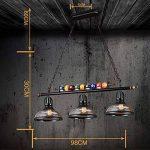lustres loft rétro chandelier en verre personnalité créative trois restaurant art bar comptoir billard lustre industriel A+ de la marque lustre image 4 produit