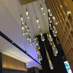 Lustres Plafonniers Eclairage De Plafond Goutte D'Eau Or Cristal Pendentif Créatif Lumière Style Européen Lampes Led De Luxe Moderm Verre Éclairage Intérieur Restaurant 1 de la marque Philipa image 3 produit