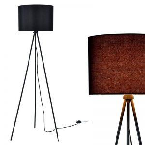 [lux.pro] lampadaire (1 x socle E27)(150cm x 60cm) abat-jour (noir) parasol et lampadaire à trois pieds de la marque lux.pro image 0 produit