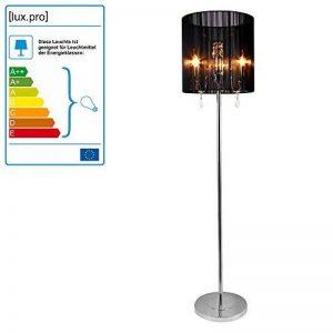 [lux.pro] Lampadaire 167x40cm Lampe métal noir chrom de la marque lux.pro image 0 produit