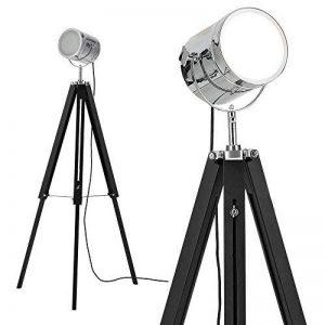 [lux.pro] lampadaire tripode (1 x socle E27)(64cm - 140cm) design industriel trépied tripode tripode télescope chrome lampe sur pied luminaire de la marque lux.pro image 0 produit