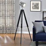[lux.pro] lampadaire tripode (1 x socle E27)(64cm - 140cm) design industriel trépied tripode tripode télescope chrome lampe sur pied luminaire de la marque lux.pro image 1 produit