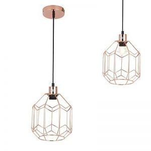 [lux.pro] lampe à suspension vintage E27 laiton salle à manger plafonnier pendulaire luminaire de la marque lux.pro image 0 produit