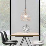 [lux.pro] LED lampe à suspension Industria - laiton / plafonnier (1 x socle E27)(37cm x Ø 40cm) lampe à suspension / vintage / design rétro / design industriel (laiton) de la marque lux.pro image 2 produit