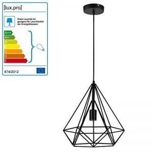 [lux.pro] LED lampe à suspension Industria noir / plafonnier (1 x socle E27)(37cm x Ø 40cm) lampe à suspension / vintage / design rétro / design industriel (noir) de la marque lux.pro image 0 produit