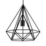 [lux.pro] LED lampe à suspension Industria noir / plafonnier (1 x socle E27)(37cm x Ø 40cm) lampe à suspension / vintage / design rétro / design industriel (noir) de la marque lux.pro image 3 produit