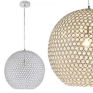 [lux.pro] luminaire suspendu plafonnier - crystal - (1 x socle E14) (sphère Ø 40 cm) plafonnier raccord de luminaire suspendu lampe de chambre lampe de salle de séjour de la marque lux.pro image 0 produit