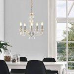 [lux.pro] lustre luminaire suspendu plafonnier (5 x socles E14)(env. 150,0 cm Ø : 52,0 cm) lampe à suspension lampe 5 flammes cristal de la marque lux.pro image 2 produit
