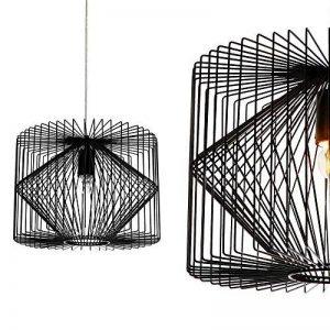 [lux.pro] plafonnier noir métal luminaire suspendu grille salle à manger plafonnier vintage rétro lampe à suspension lampe LED salle de séjour de la marque lux.pro image 0 produit