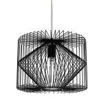[lux.pro] plafonnier noir métal luminaire suspendu grille salle à manger plafonnier vintage rétro lampe à suspension lampe LED salle de séjour de la marque lux.pro image 3 produit