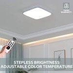LVWIT 55W Plafonnier LED Salon, Lampe de plafond Moderne de couloir chambre cuisine, Luminosité Dimmable 4400LM, Température de 3000K à 6500K, Avec télécommande, 530mm*530mm de la marque LVWIT image 3 produit