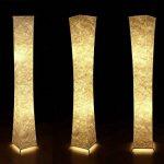 lvyuan Lampadaire Design Moderne Lampe de Sol Abat-jour en Tissu Plissé avec 2 Ampoules LED pour Salon Chambre Decoration 26x26x132cm Europäischer Netzstecker de la marque lvyuan image 4 produit
